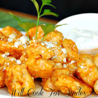 Lighter Boneless Buffalo Wings with Homemade Ranch