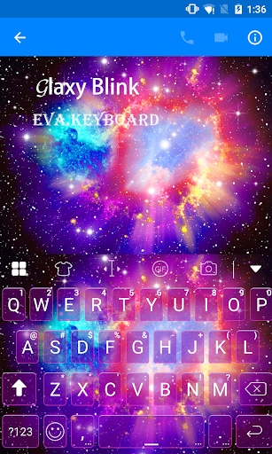 玩免費遊戲APP|下載Galaxy Blink Eva Keyboard -Gif app不用錢|硬是要APP