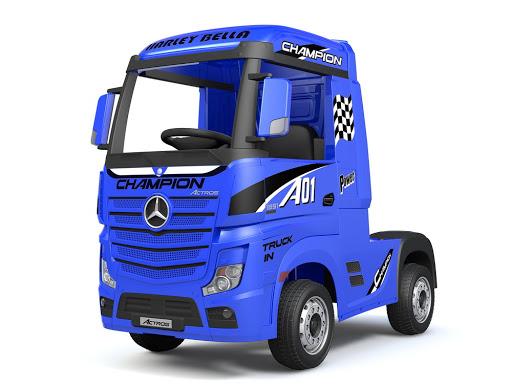 Детский электромобиль MercedesBenz Actros Лицензия цвет синий глянец купить