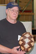 Photo: Bob Grudberg shows his open-segmented hollow form.