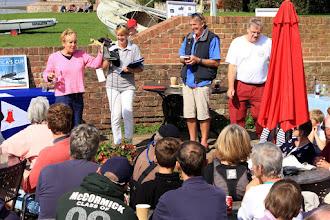 Photo: Auction time at Bosham Sailing Club.