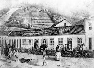 Photo: Casas coloniais de meados do século XIX, quando a cidade ainda estava nascendo.