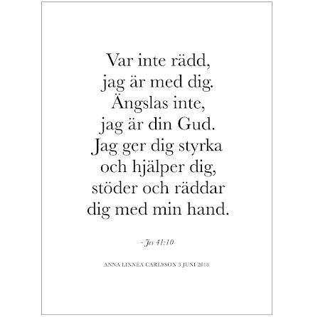 BIBELVERS - VAR INTE RÄDD