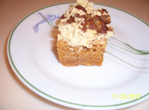 Angel Pumpkin Cake With Sugared Pecans Recipe