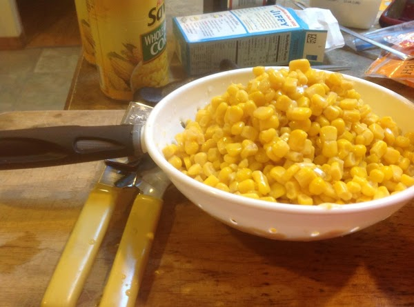 Drained the canned corn, and add to bowl then add the olive oil and...