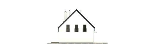 Bernikla z garażem 2-st. bliźniak A1-BL1 - Elewacja lewa