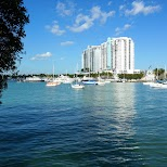 Miami bay from the Venetian causeway in Miami, Florida, United States
