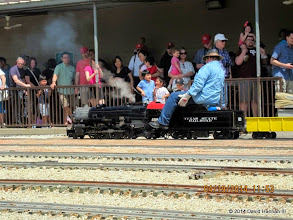 Photo: Pete Greene with a crowd of waiting passengers      HALS Public Run Day 2014-0419 DH3