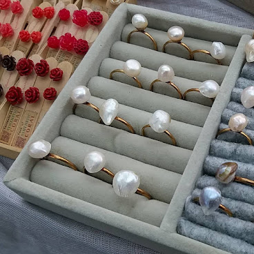 Irregular fresh water pearls on Brass Rings