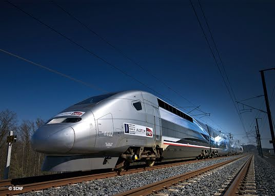 TGV Duplex V 150 High-Speed Train