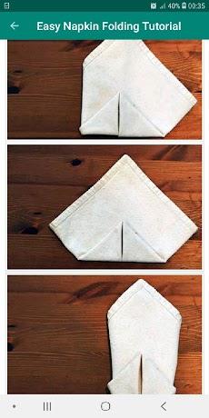 Table Napkin Folding Tutorial Offline Easy Stepのおすすめ画像3