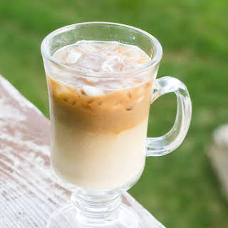 Dairy-Free Coconut Vanilla Iced Coffee #secretrecipeclub.