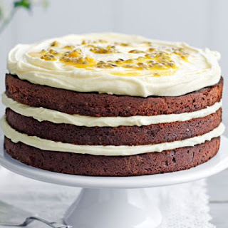 Chocolate Layer Cake with Passion Fruit Icing Recipe