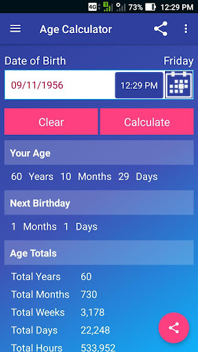 Age Calculator Pro screenshot 2
