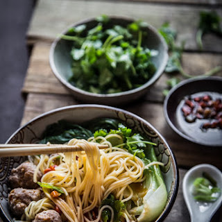 Easy Breezy Authentic Chinese Meatballs Noodle Soup Recipe