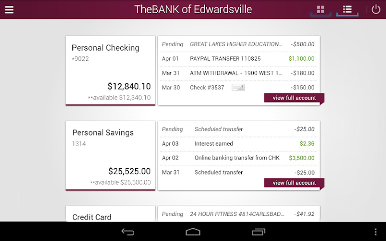 android The BANK of Edwardsville Screenshot 10