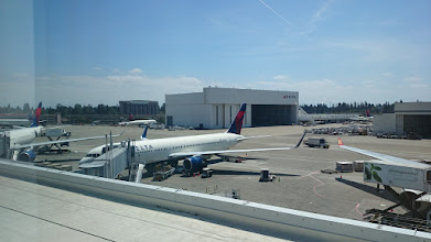 Photo: Now at SeaTac Airport. Departing to Tokyo soon.