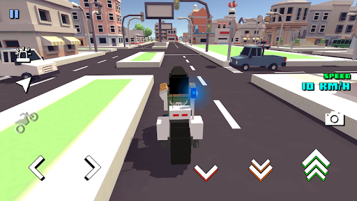 Blocky Moto Racing 🏁 - pilote moto APK MOD (Astuce) screenshots 5