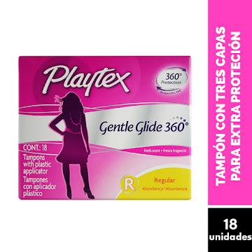Tampones PLAYTEX Gentle   Glide 360 Regular x18Und.
