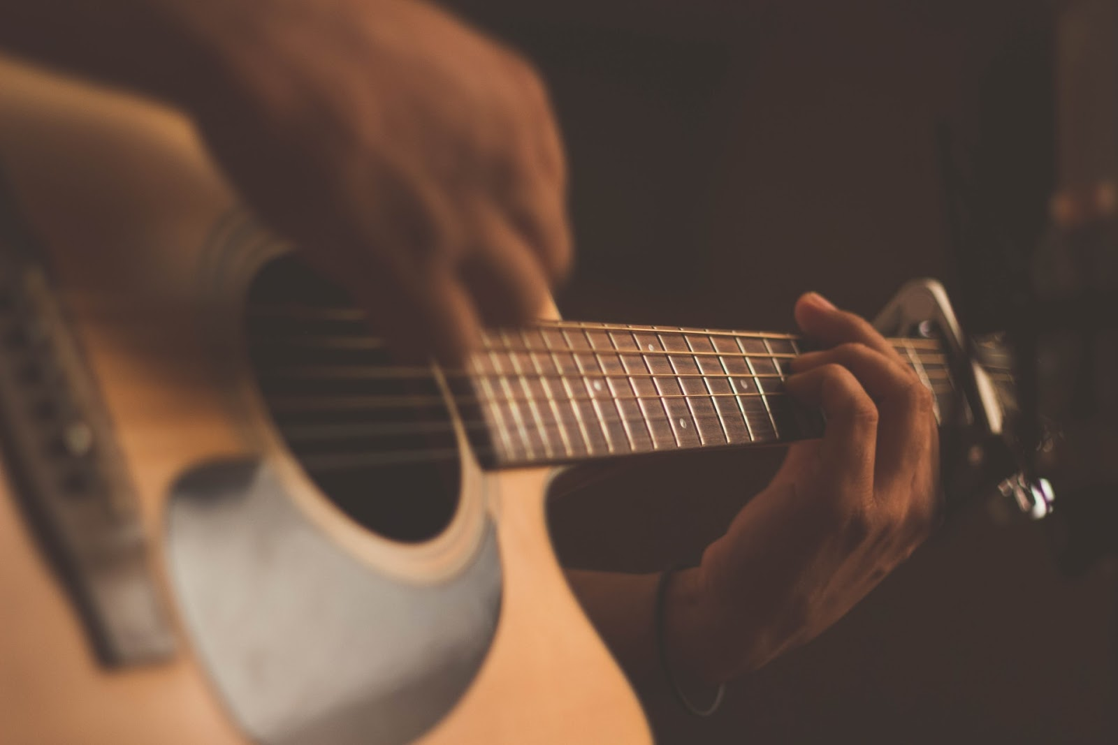 Image of Person Playing Guitar