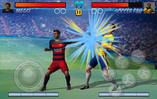 サッカーの戦いのサッカーパンチ