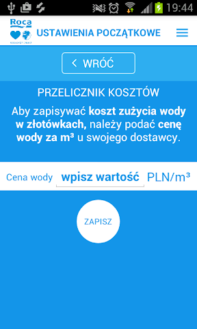 android Lubię Wodę - Roca Screenshot 1