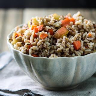 Apple-Carrot Farro and Rice Salad