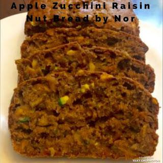 Apple Zucchini Raisin Nut Bread