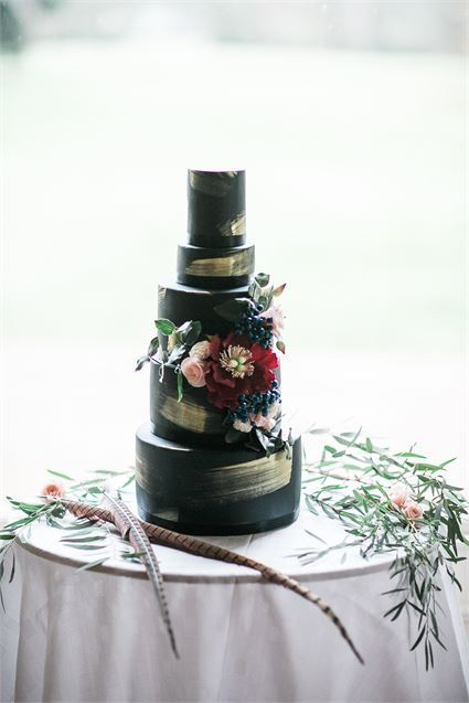 Dark and Moody Wedding Cake