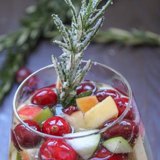 "Cranberry & Rosemary White ""Christmas"" Sangria"