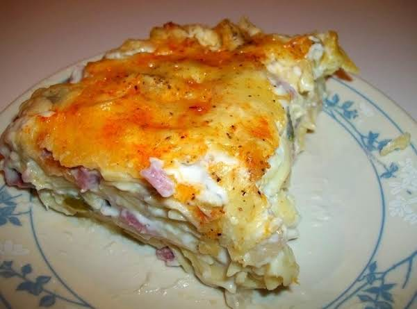 Creamy Ham N Swiss Noodle Bake Recipe