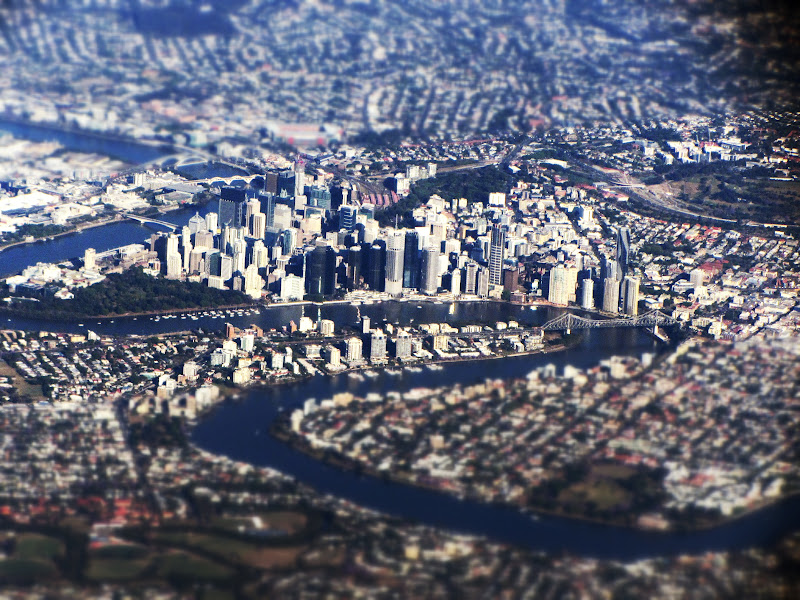 Photo: Miniature view of Brisbane from the air