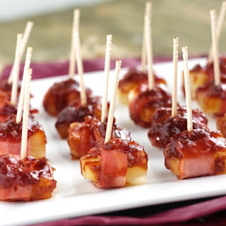 Sweet 'N Sour Bacon Wrapped Pineapple {GF, Low Calorie & Low Fat}.