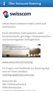 Swisscom Roaming Guide – Miniaturansicht des Screenshots
