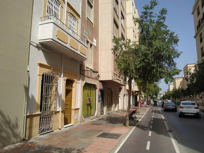 Calle Poeta Paco Aquino donde estuvo la heladería de Adolfo