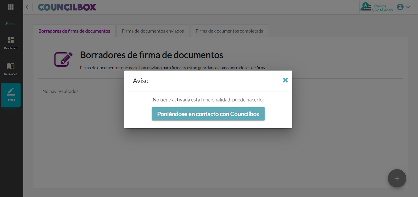 Firma de documentos a través de Councilbox