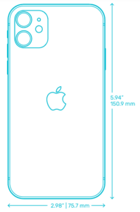 keep air purifier at least 15cm or 6 inches from wall - height of iPhone 11