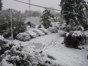 Photo: החנייה והגינה הקהילתית בשלג
