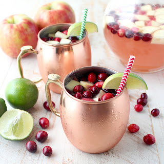 Cranberry Apple Moscow Mule Punch.