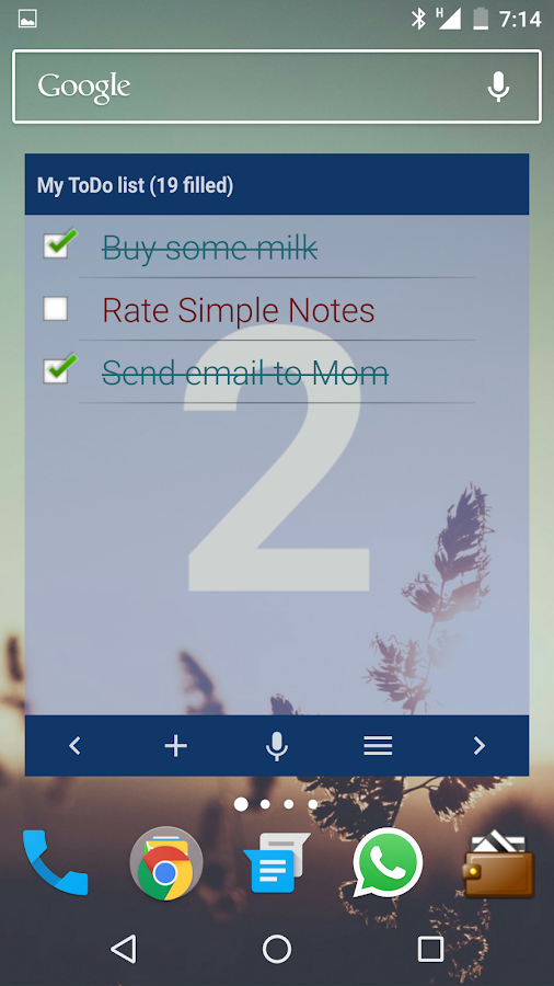 Simple Notes Widget- screenshot