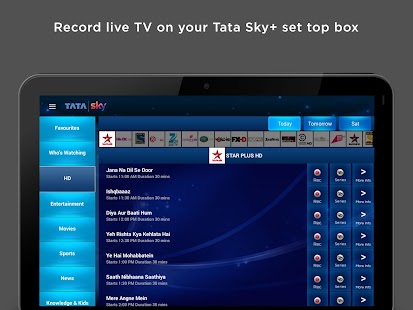 Tata Sky Mobile – For Tablets- screenshot thumbnail