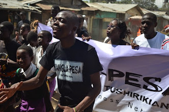 Photo: Alfred Sigo, a youth leader helping mobilize for Bangla-Pesa