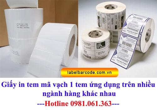 giấy in tem nhãn mã vạch giá rẻ chất lượng tốt nhất