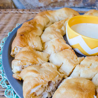 Buffalo Chicken stuffed Crescent Roll