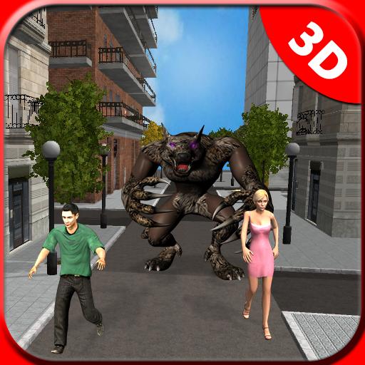 Werewolf City Attack Simulator 2018