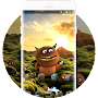 Cute Monster theme: furry alien wallpaper HD APK icon