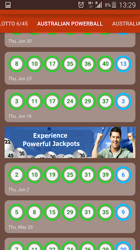 Lotto Results screenshot