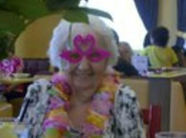 Cutting Up At Her 94th Birthday Party, Wearing Silly Flamingo Glasses From The Dollar Store.