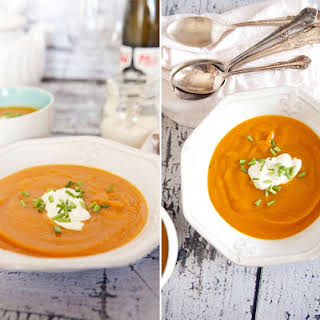 Pumpkin, Sweet Potato & Carrot Soup.