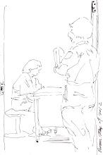 Photo: 顧門2012.05.29鋼筆 收容人看診時,我們的工作就站在門口戒護,就是女收容人也是一樣…
